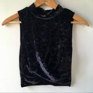Topshop crushed velvet top